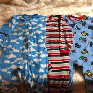 Other - 3 Pairs of Fleece Footie PJs Size 6